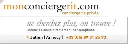 Mon concierge rit en m'apportant des services personnels à Annecy